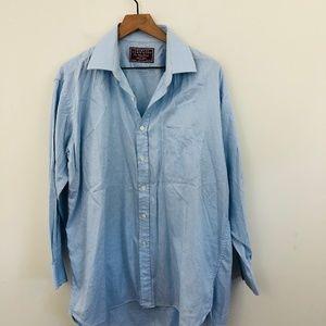 Charles Tyrwhitt Blue Button Up Dress Shirt 17